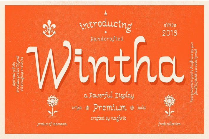 Thumbnail for Wintha Typeface