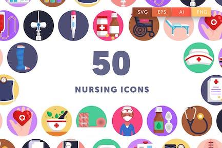 50 Pflege-Ikon