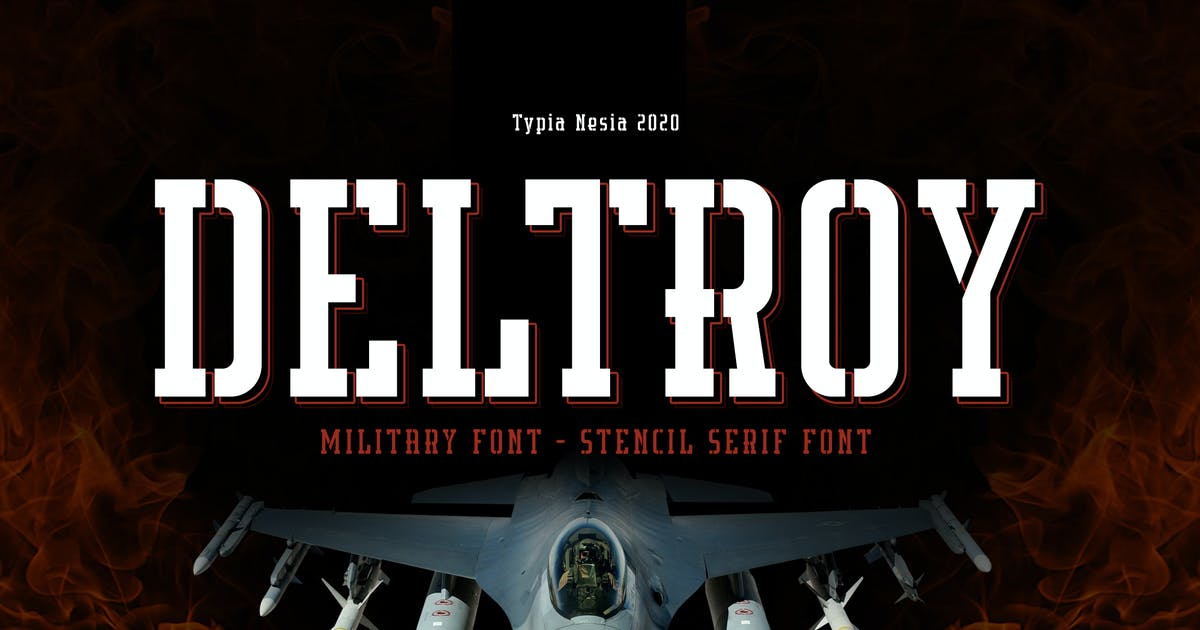 Download Deltory - Military Font by yipianesia