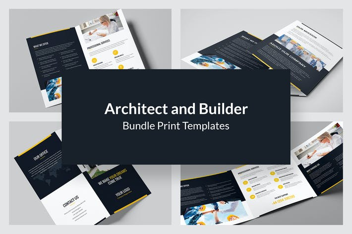Thumbnail for Architect and Builder – Bundle Print Templates