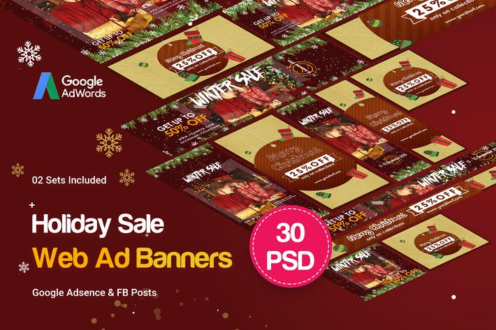 Cover Image For Holiday Sale Banners Ad