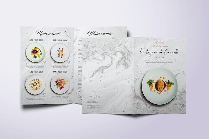 Thumbnail for Restaurant Bifold A4 & US Letter Minimal Food Menu