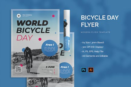 Bicycle Day - Flyer