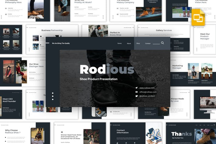 Thumbnail for Rodius - Shoes Store Google Slides Template