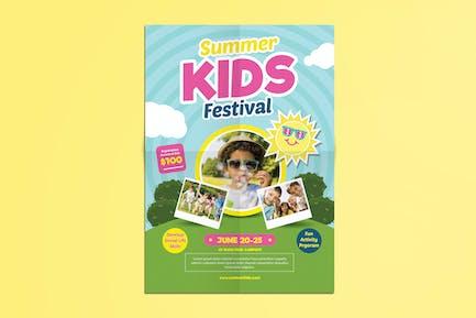 Sommer Kinder Camp Flyer