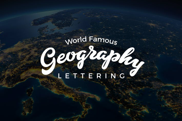 Thumbnail for Geographic Lettering Collection