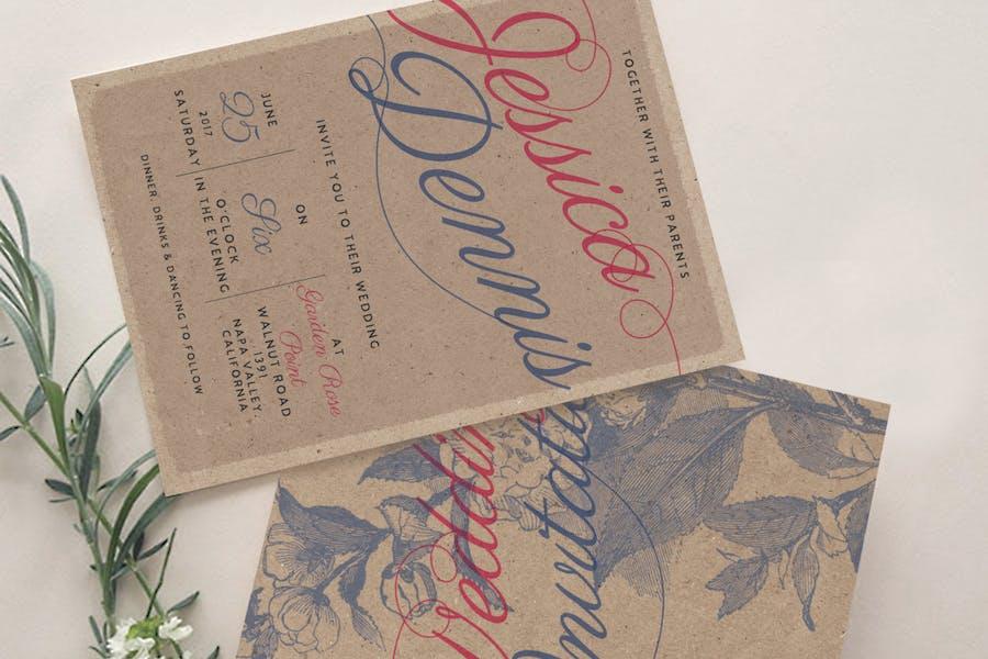 Rustic Wedding Invitation Package