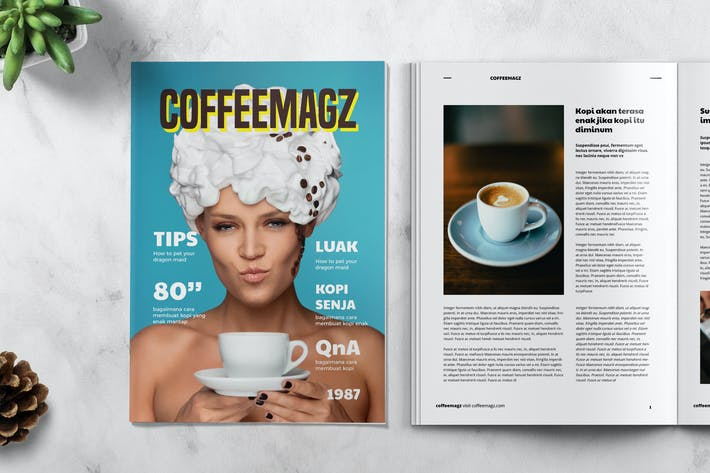 Thumbnail for COFFEE - Magazine Template