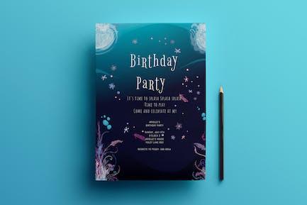 Geburtstags-Einladungskarte