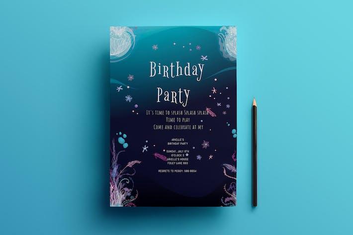Thumbnail for Birthday invitation card