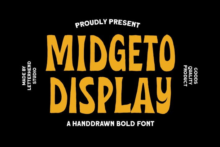 Thumbnail for Midgeto Display - Handdrawn Font
