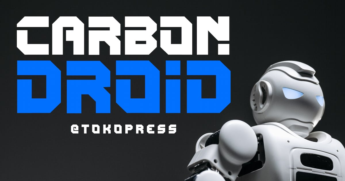 Download CARBON DROID - Techno Font by tokopress