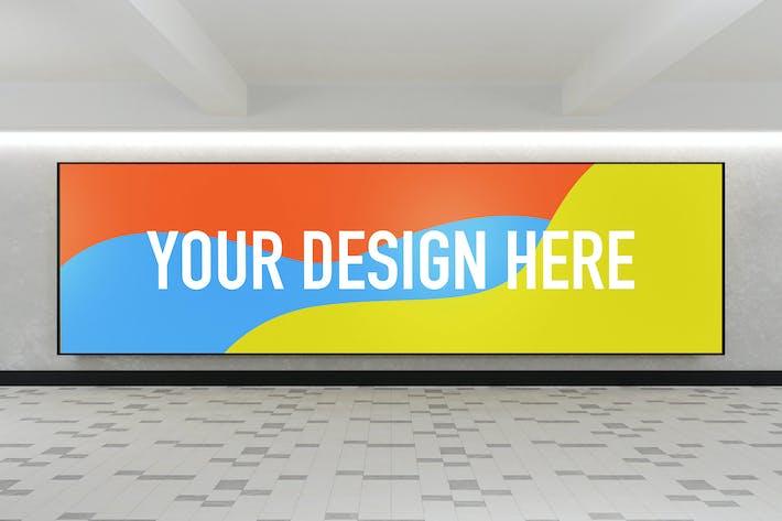 Thumbnail for YDM Indoor Advertising Billboard Mockup