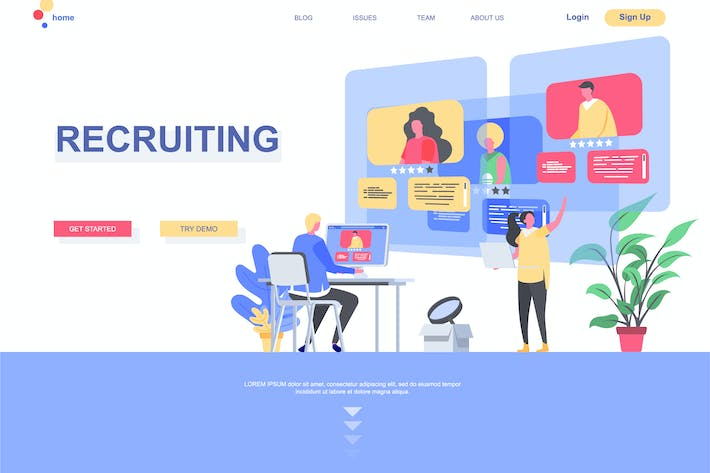 Thumbnail for Recruiting Landing Page Template