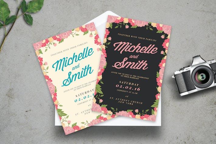 Thumbnail for Invitation de mariage floral
