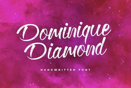 Dominique Diamond Calligraphy Font
