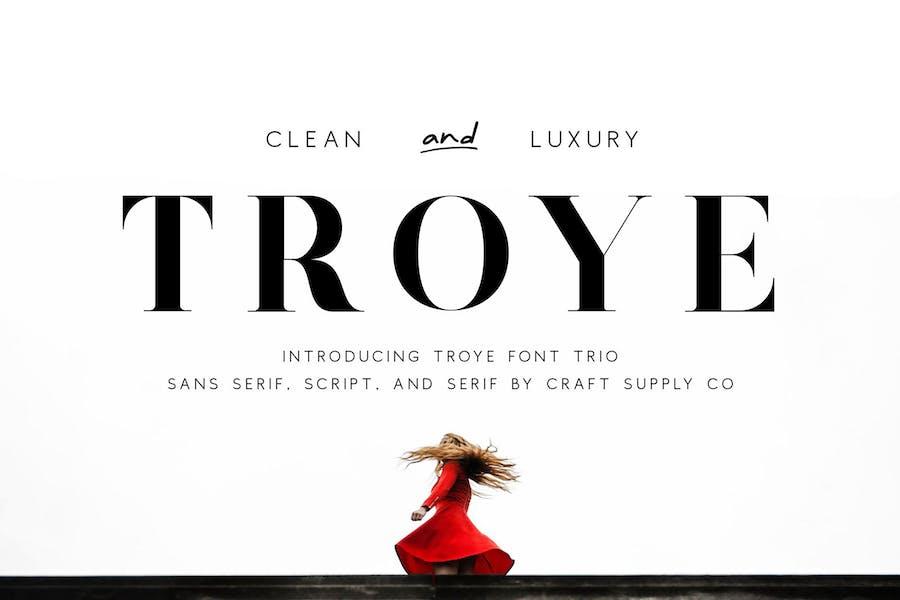 Troye Font Trio - Clean & Luxury