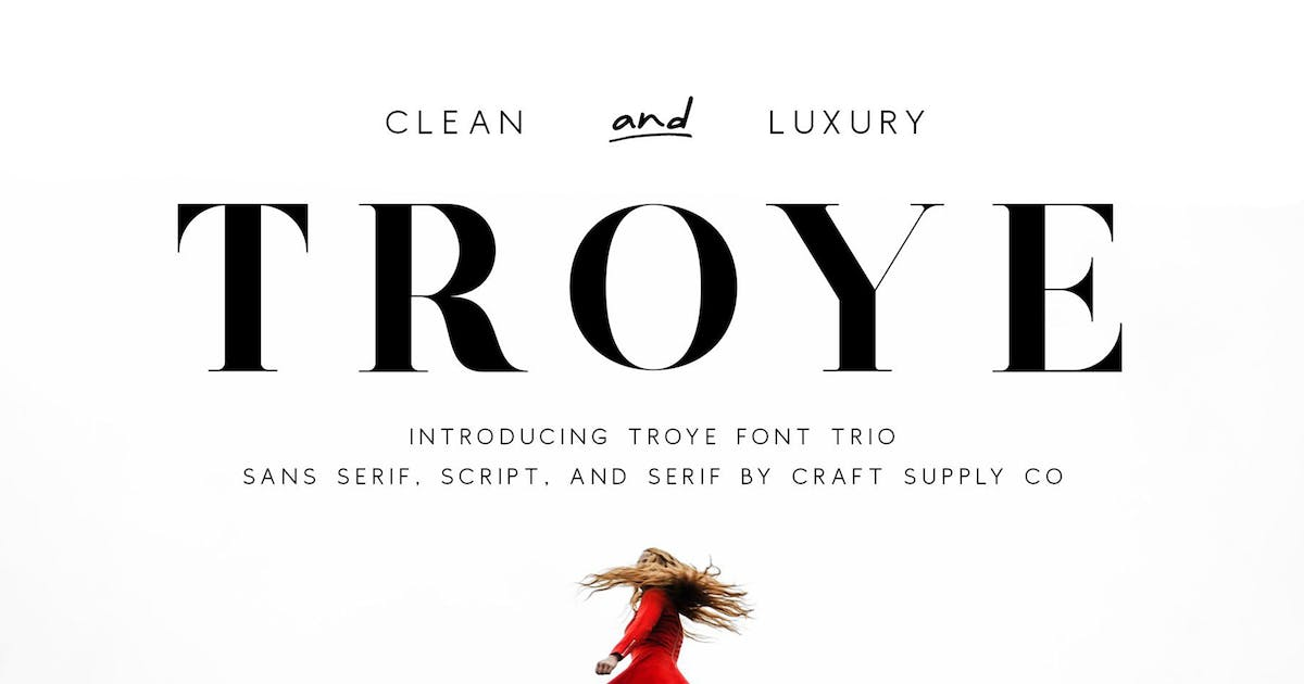 Download Troye Font Trio - Clean & Luxury by craftsupplyco