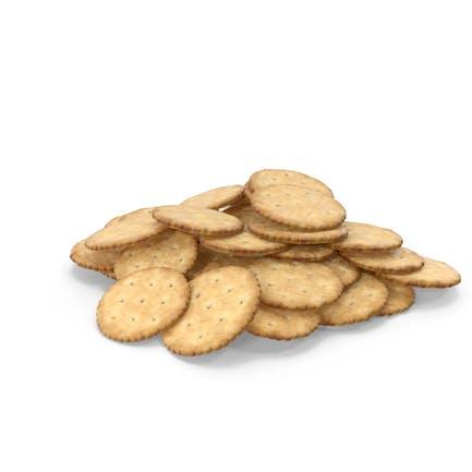 Pile of Circular Crackers