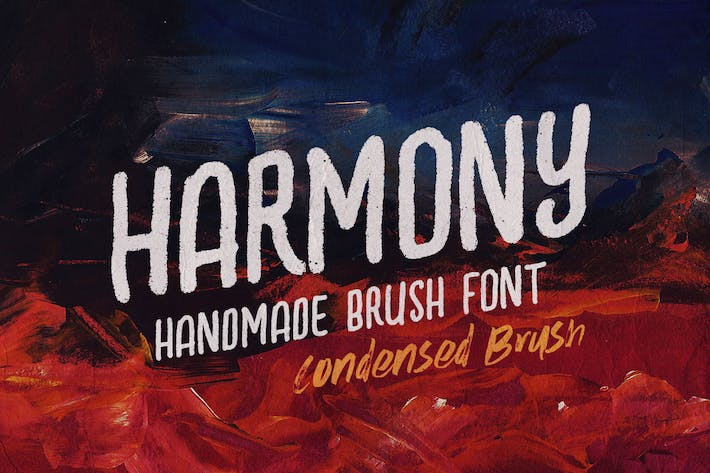Thumbnail for Harmony Condensed Brush Font