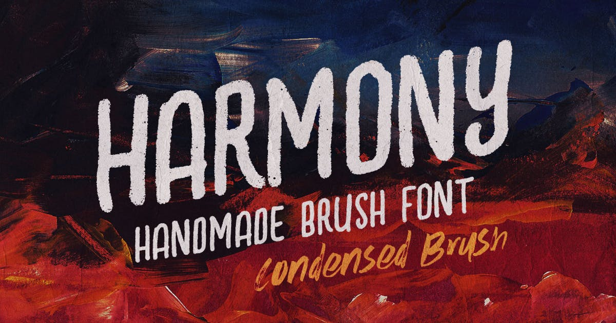 Download Harmony Condensed Brush Font by cruzine