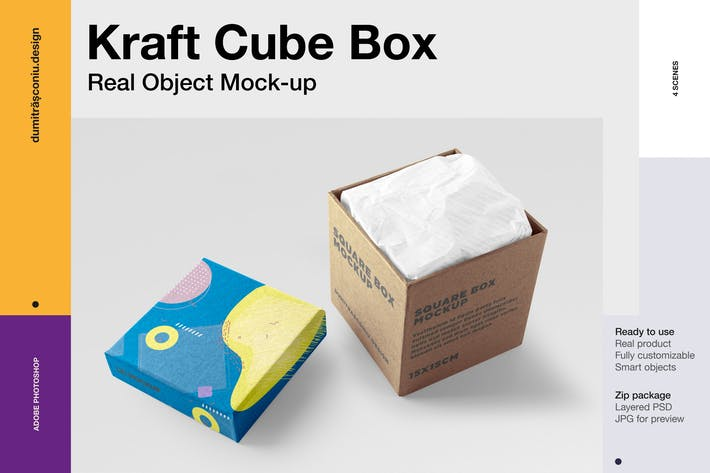 Cover Image For Kraft Cube Box