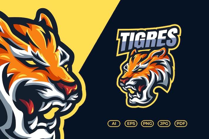 Thumbnail for Tiger Mascot Esport Logo