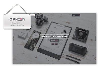 Ophion - Clean Unique HTML5 Vorlage