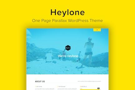 Heylone - One Page Parallax WordPress Theme