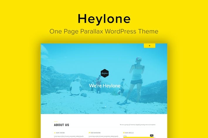 Heylone - One Page Parallax WordPress Theme