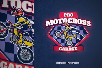 motocross garage team logo template