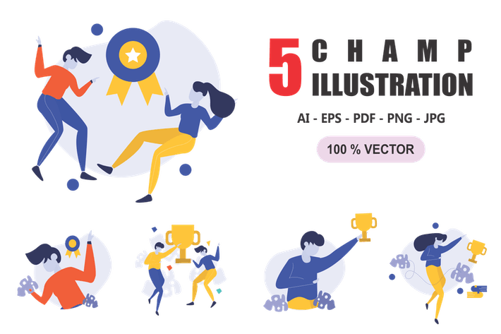 Thumbnail for Champ - Flat Design Illustrations