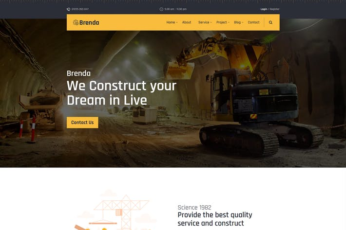 Thumbnail for Brenda — Modèle HTML5 de construction