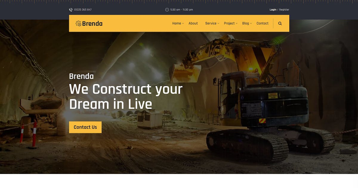 Download Brenda – Construction HTML5 Template by codecarnival