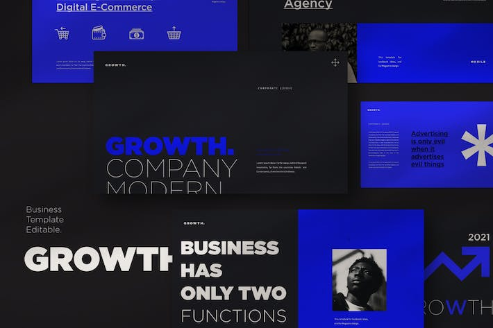 Thumbnail for Growth Keynote Template