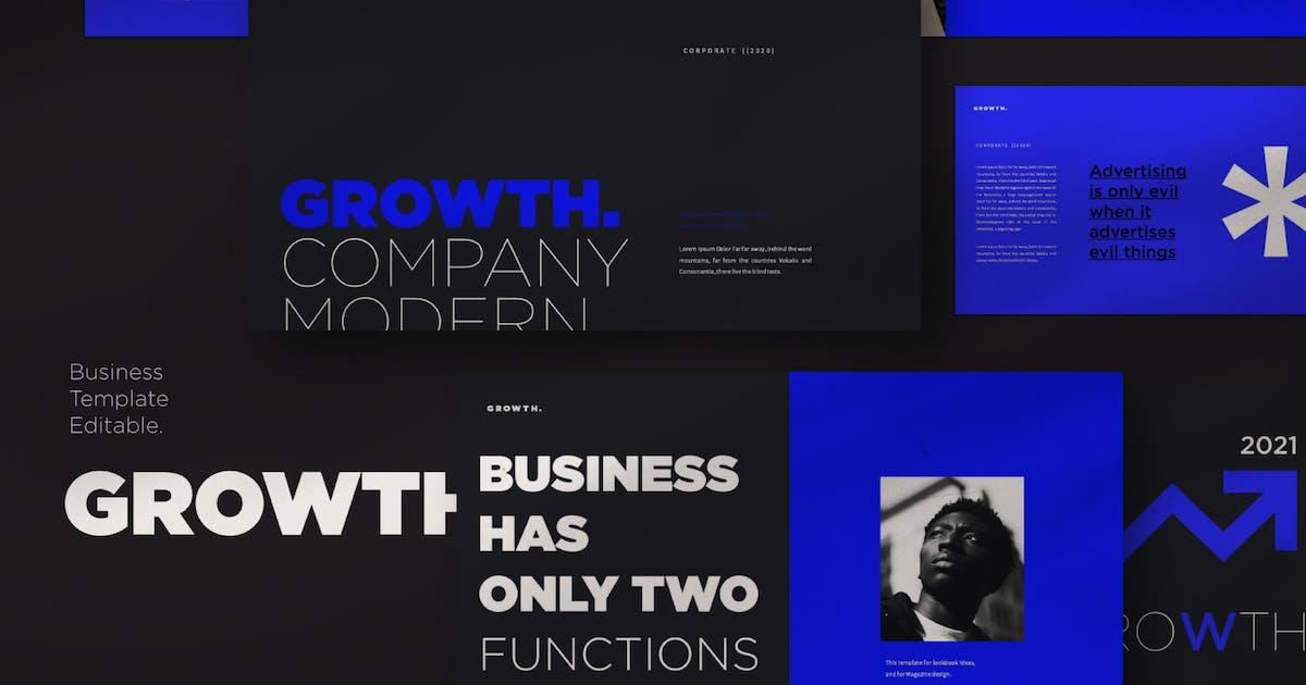 Download Growth Keynote Template by axelartstudio