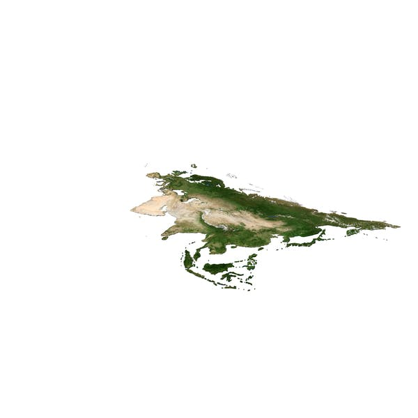 Карта Континента Евразии