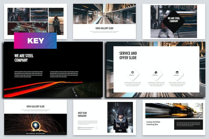 Thumbnail for Steel - Business Keynote Template