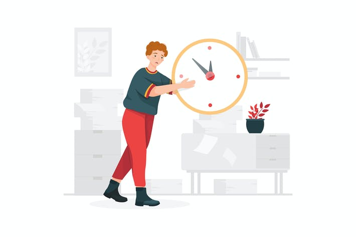 Thumbnail for Time Management Illustration concept