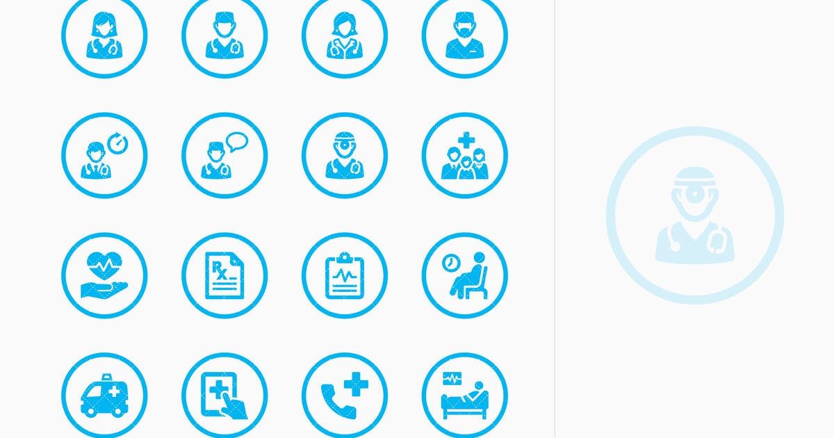 Download Medical Services Icons Set 3 - Blue Circles by Unknow