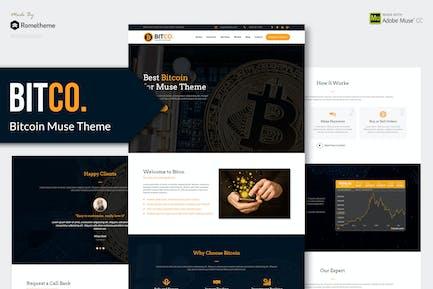 Bitco - Bitcoin, Cryptocurrency Muse Template YR