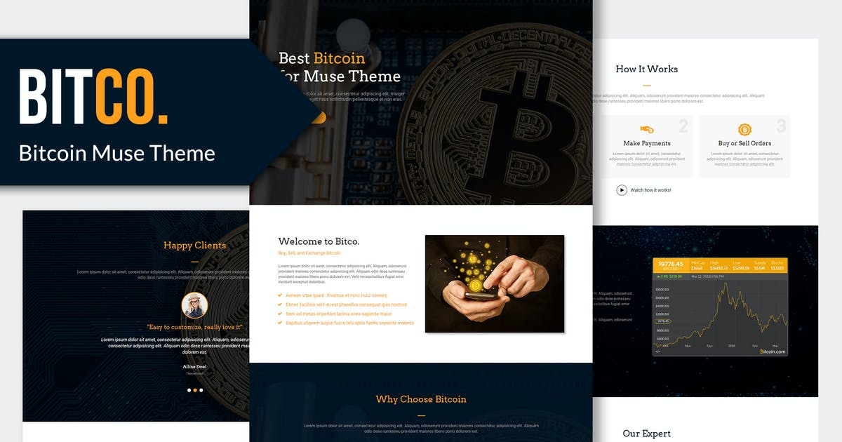Download Bitco - Bitcoin, Cryptocurrency Muse Template YR by Rometheme