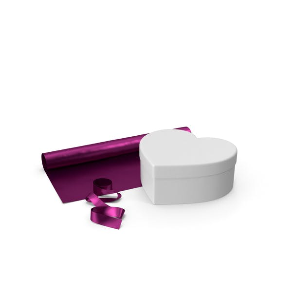 Валентина Форма Фуксия Подарочная коробка с рулоном бумаги