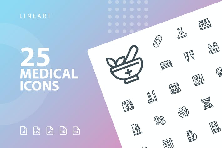 Thumbnail for Medical Lineart Icons