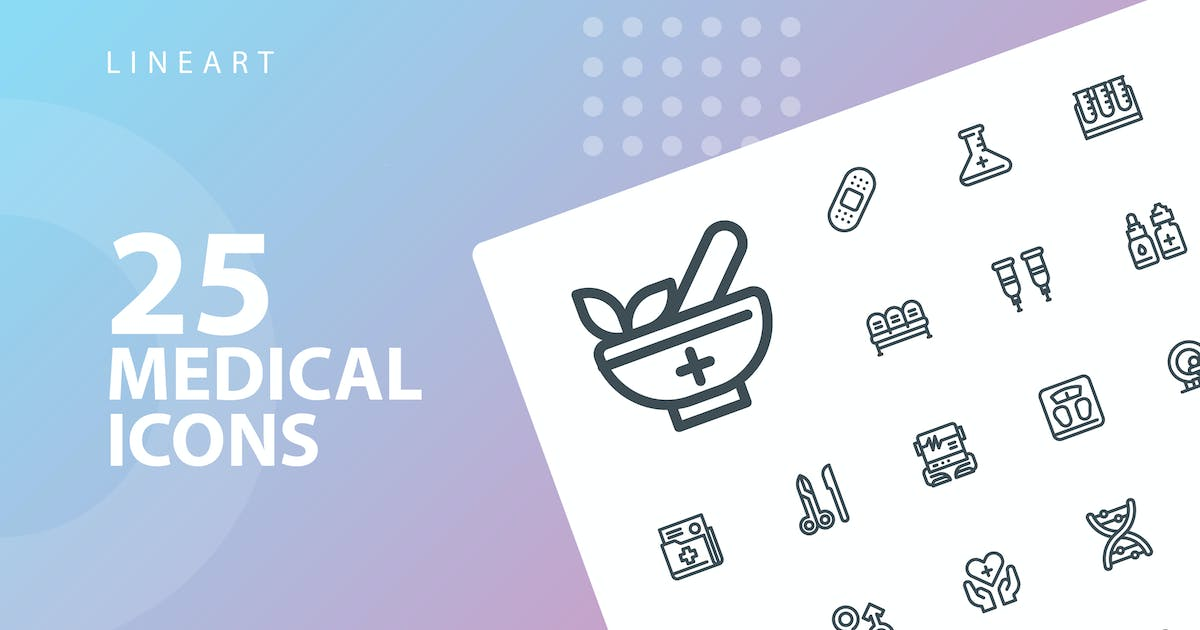 Download Medical Lineart Icons by kerismaker