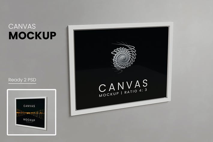 Thumbnail for Canvas Mockup Vol 2