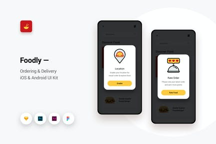 Foodly - Ordering Delivery iOS & Android UI Kit 10