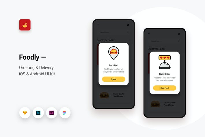 Thumbnail for Foodly - Ordering Delivery iOS & Android UI Kit 10