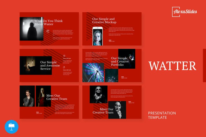 Thumbnail for Watter - Creative Keynote Template