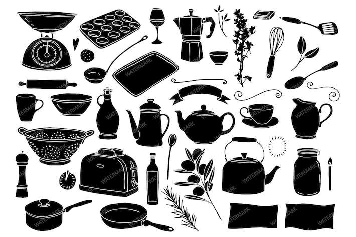 Cover Image For Ilustraciones hechas a mano para cocinar y hornear